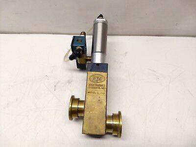 Key High Vacuum Blp50 Electropneumatic Brass Valve Nw25 Flange