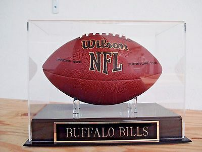 (Football Display Case For Your Buffalo Bills Autographed Team Football)