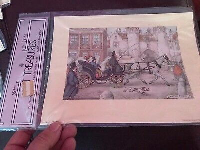 - 1971 ART TREASURES Anton Pieck PRINT for DECOUPAGE Frame or CRAFTS #53158 Free S