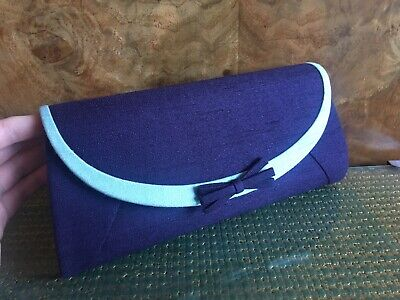 PERFECT CONDITION! USED ONCE! Jacques Vert - Purple & Aqua Evening Clutch Bag
