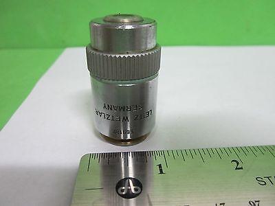 Microscope Part Objective Leitz Germany Hl 20x Infinity Optics As Is Bin65-48