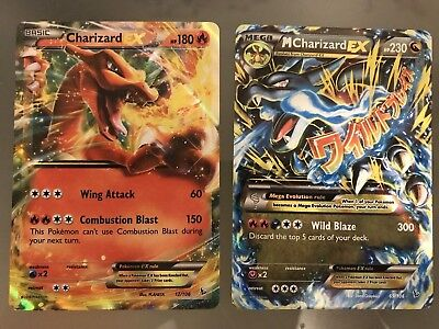 M Charizard EX 69/106 and Charizard EX 12/106 Pokemon Flashfire NM/Mint for sale  Shipping to Canada