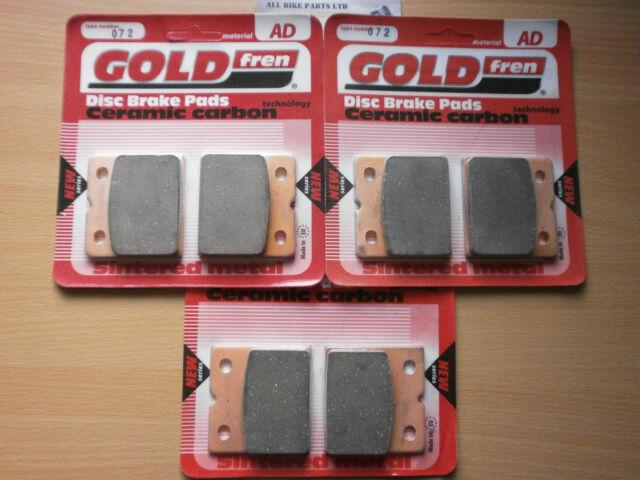 FULL SET GOLDFREN HH FRONT & REAR BRAKE PADS (3x Sets) BMW K 75 RT K75 K75RT