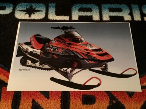 🏁 '04 POLARIS INDY 800 PRO XR Snowmobile Poster  semivintage sled X R 800