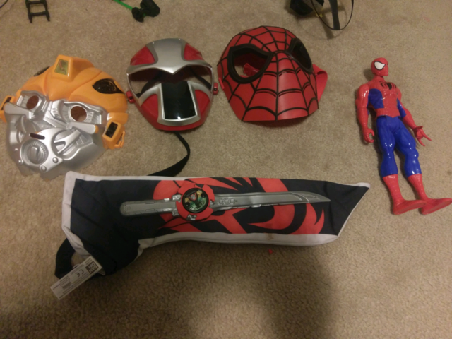 Spiderman / spiderman mask/bumblebee mask/power ranger | Toys ...