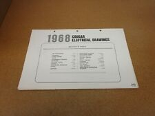 1968 Mercury Cougar wiring diagram SHEET schematics ...