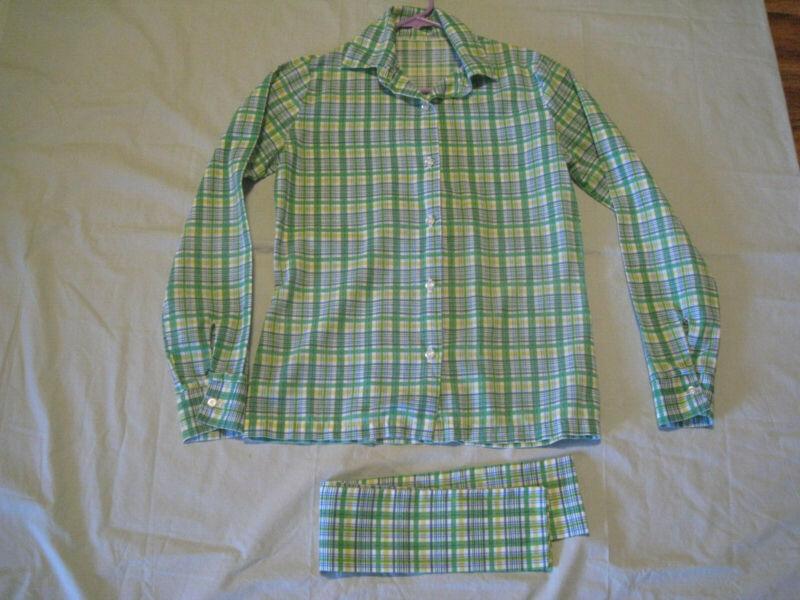 Girl Scouts Cadette Uniform 1980-87 Long Sleeve Blouse & Scarf sz 5/6