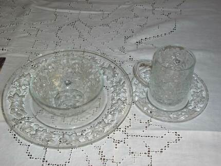 Princess House Crystal Plate Setting & Orrefors More XL crystal (set of 4) Brand new. | Dinnerware ...