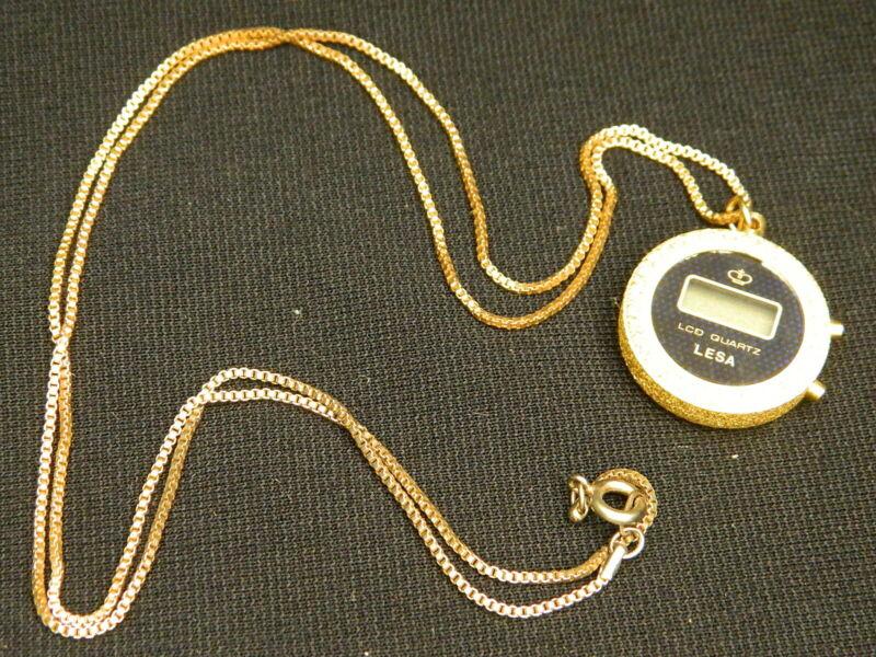 153#C-- Watch Pendant Ladies Vintage LESA