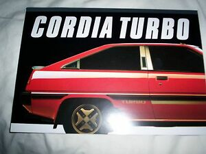 Mitsubishi Cordia Turbo sales brochure Flagstaff Hill Morphett Vale Area Preview