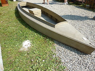 c1920 14' LONG duck boat canvas SOLID CAROGA LAKE, NY adirondacks last use 1940