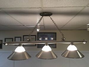 Brushed Nickel Billiards/Pool Table Light Fixture