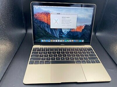 "Apple MACBOOK 12"" Early 2016 500GB SSD 8GB Ram Intel M5 1.2GHz Gold #e4u"