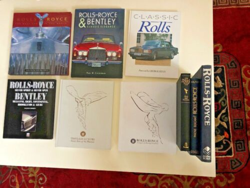 Collection of nine Rolls-Royce and Bentley hardcover books