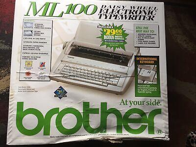 Brother Ml-100 Daisy Wheel Electronic Typewriter Multi Lingual