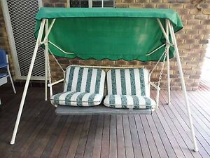 Swing chair, suit deck, vinyl cushions, canvas cover, Ipswich Ironbark Ipswich City Preview