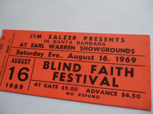 BLIND FAITH Original__1969__CONCERT TICKET STUB__CLAPTON & WINWOOD