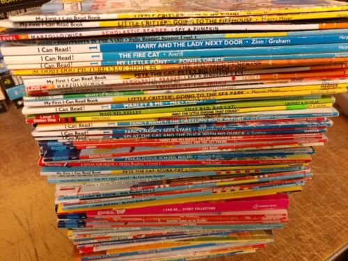 Lot of 10 Level 1~RL~Ready to-I Can Read-Step into Reading-Learn Read Books MIX