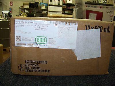 Bdh Buffer Reference Standard 500ml Bottles Vwr Analytical 12 Each