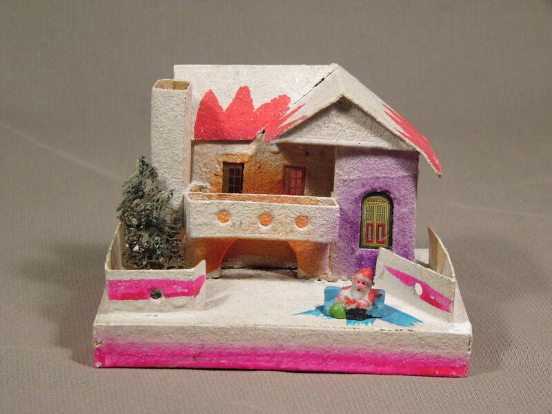 Vintage Christmas Putz House Japan Original Bisque Santa