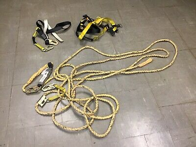 Guardian Fall Protection Set Construction Safety Harness Vertical Lifeline 50