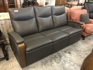 FACTORY SECOND Full Leather Recliner Sofa Wangara Wanneroo Area Preview