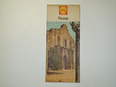 Vintage 1964 SHELL Texas Travel Road Map