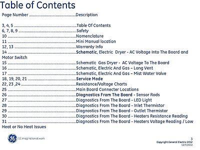 Repair Manual: General Electric Washers & Dryers (Choice of 1, see description) General Electric Washer Repair