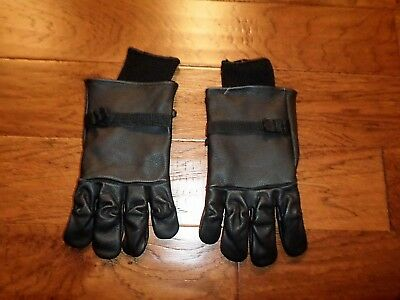 MILITARY INTERMEDIATE COLD WET WEATHER LEATHER GLOVES SIZE M LINED WINTER WORK