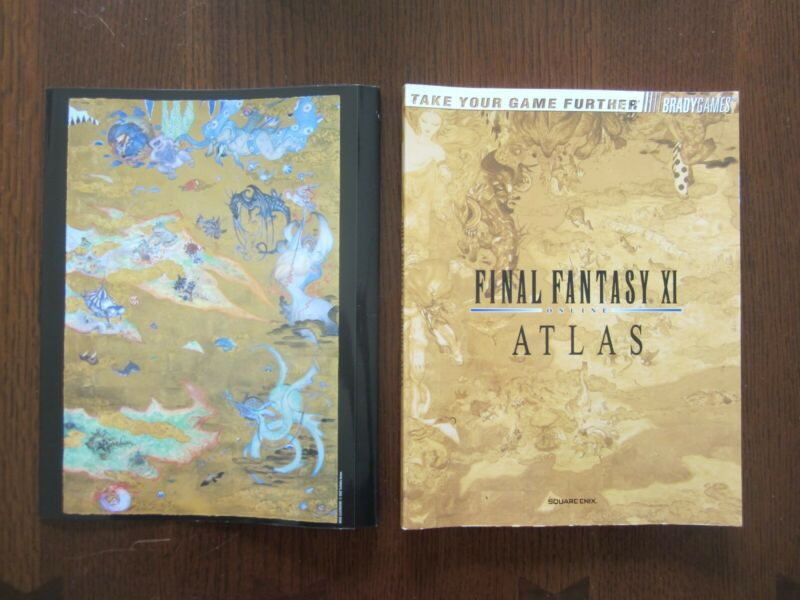 Final Fantasy XI 11 Online Atlas Yoshitaka Amano Dust Jacket Art Edition