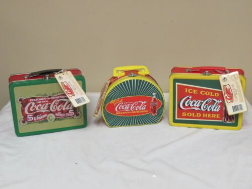3 COCA COLA BRAND LUNCHBOXES COKE BRAND NEW WITH TAGS