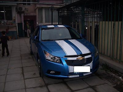 Chevy Cruze 10 Twin 2 Rally Stripe Set Stripes Decal Decals Graphics Fit all Yr