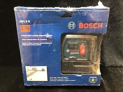 BOSCH GPL 5 R Self Leveling 5-Point Alignment Laser 100 Feet  New!!!