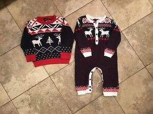 Sophie and Sam Christmas Sweater and Romper