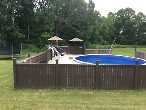 24 ft above ground pool, fence, deck, etc...