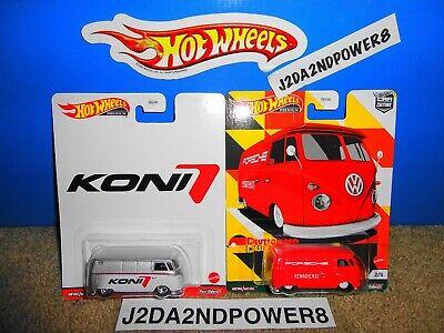HOT WHEELS 2021 CAR CULTURE DEUTSCHLAND DESIGN & KONI VW T1 PANEL BUS LOT OF 2