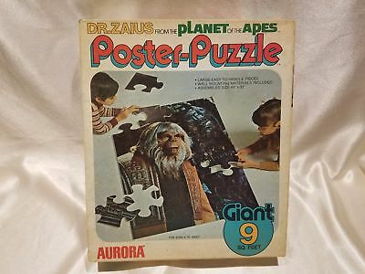 PLANET OF THE APES 1974 DR. ZAIUS AURORA GIANT POSTER PUZZLE W/BOX COMPLETE