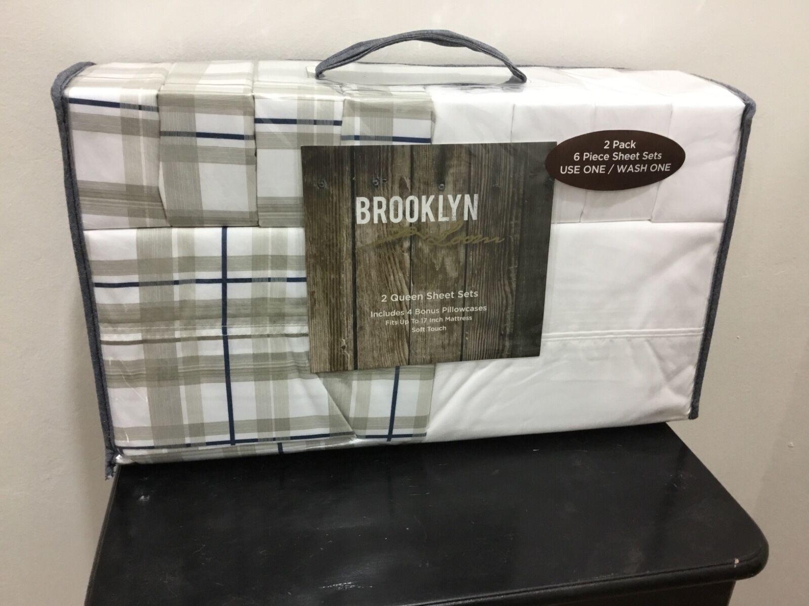Set of 2 Queen sheet sets with 4 bonus pillow cases Brand ne