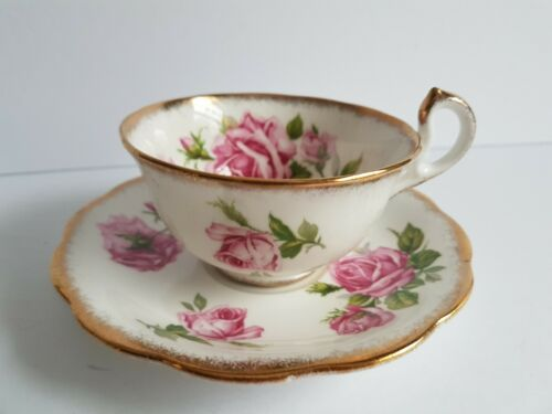 Orleans Rose Royal Standard Tea Cup and Saucer Set Vintage