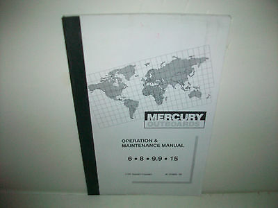 1993 Mercury outboard  6, 8, 9.9, 15 HP owners operation & maintenance manual