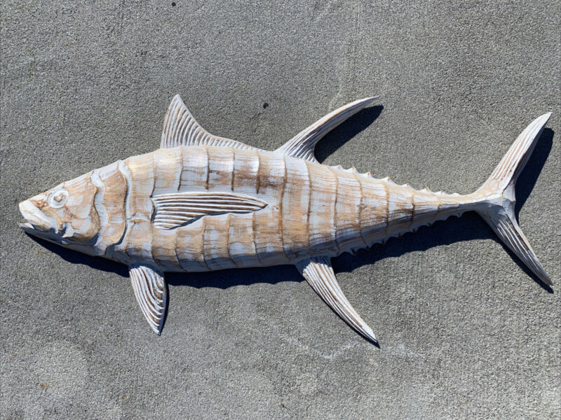 TUNA Fish WALL ART TROPICAL NAUTICAL PATIO TIKI BAR HOME DECOR