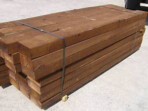 TREATED HARDWOOD SLEEPERS 200x100x2.4 Loganholme Logan Area Preview