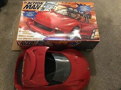 Vintage Action Man Street racer red sports car Hasbro 1995 boxed for sale  Shipping to Nigeria