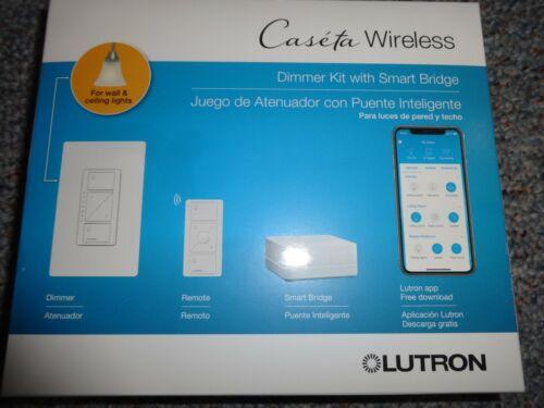 Lutron Caseta Wireless Dimmer Kit with Smart Bridge P-BDG-PKG1W **NEW**