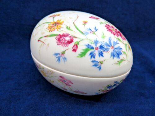 Limoges Egg Shape Porcelain Trinket Box