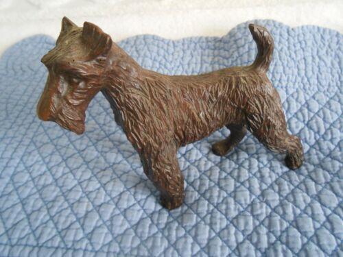 Beautiful Hard Plastic Molded Fox Terrier Figurine, very unusual