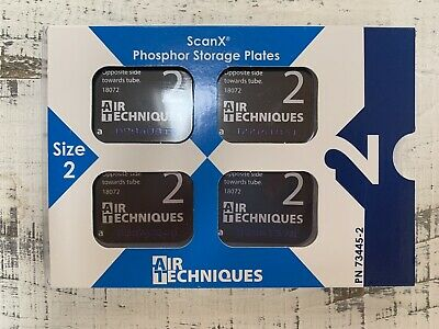 Air Techniques Inc 73445-2 Scanx Phosphor Plates Size 2 4pk Sealed