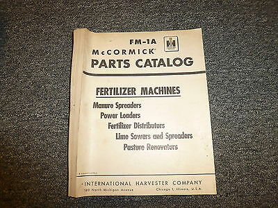 International McCormick Fertilizer Machines Spreader Loader Parts Catalog Manual