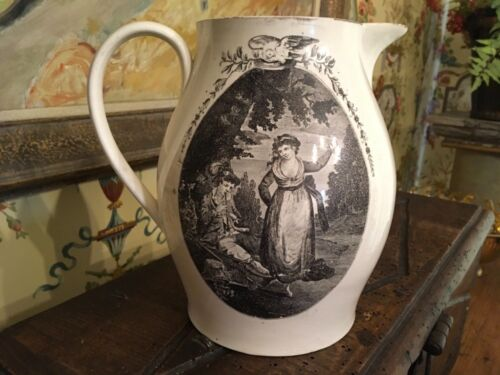 Antique English Late18th Century Creamware Pitcher Jug