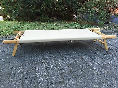 Vintage 30s German Bauhaus Kids Folding Bench/Daybed Bed Eames Era Safari Chair